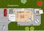 Erdgeschoss  Haus - Idee EFH-S 00124 im Bauhausstil